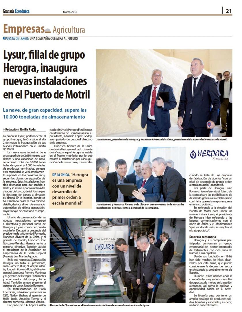 Lysur Motril en Granada Economica