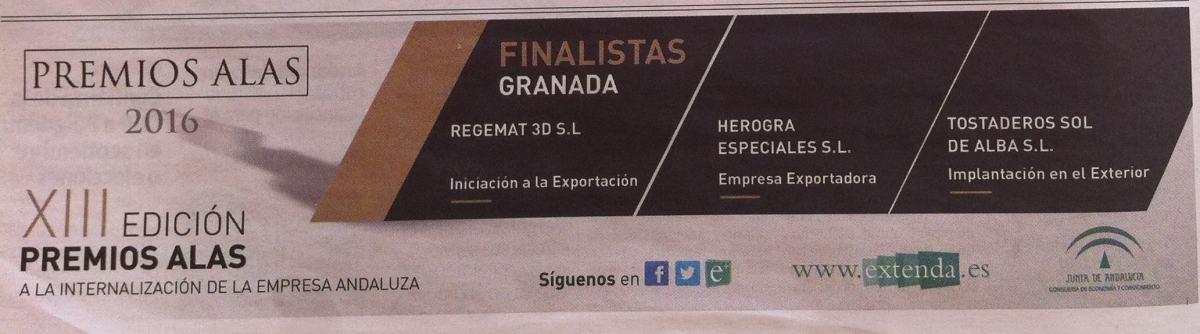 Regemat, Herogra y Sol de Alba, referentes del 'made in'Granada