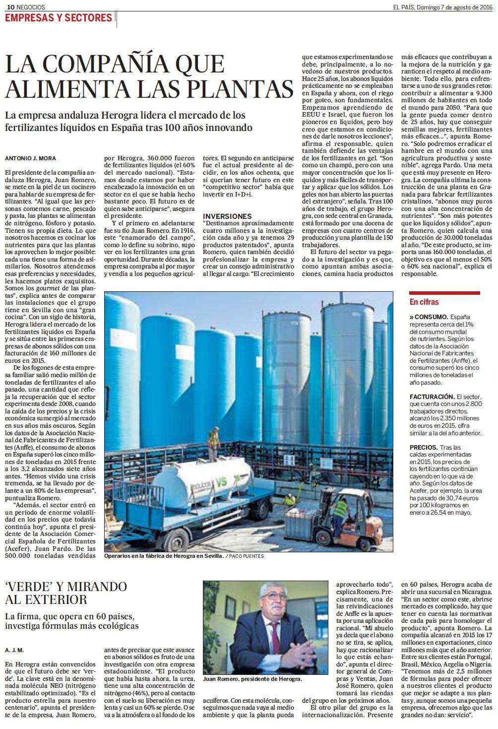 Herogra en el diario EL PAIS y en EL PAISDIGITAL